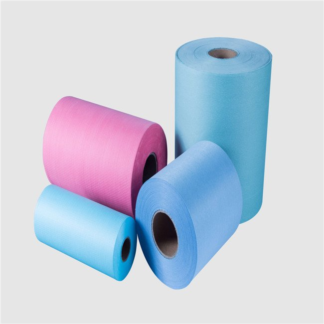 factory price dyed pulp spunlace nonwoven roll lab clean wipes raw materials