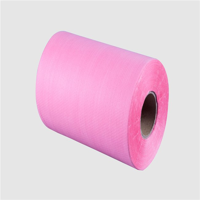 medical wipe raw material woodpulp spunlace non woven fabric roll from china manufacturer