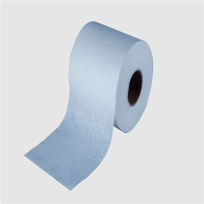 cosmetic nonwoven wipe clean cloth material pulp spunlace fabric in roll