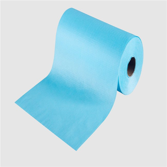 plain colorful clean wipe use raw material woodpulp spunlace nonwoven in roll